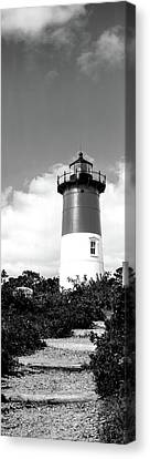 Low Angle View Of Nauset Lighthouse Canvas Print