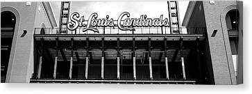 Low Angle View Of The Busch Stadium Canvas Print