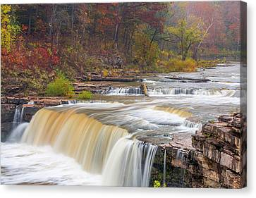 Indiana Landscapes Canvas Print - Lower Cataract Falls On Mill Creek by Chuck Haney