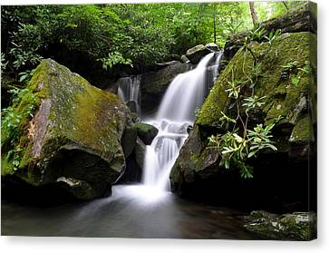 Marvelous View Canvas Print - Lower Grotto Falls by Frozen in Time Fine Art Photography