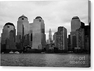 Lower Manhattan Shoreline And Skyline Waterfront New York City Canvas Print