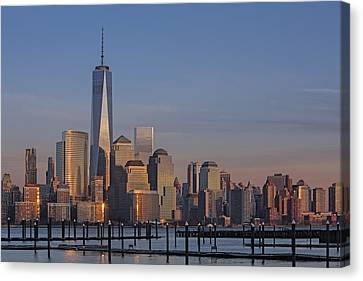 Lower Manhattan Skyline Canvas Print by Susan Candelario