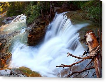 Canvas Print featuring the photograph Lower Virginia Cascades by Aaron Whittemore