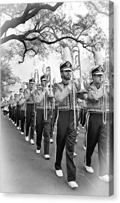 Lsu Marching Band Vignette Canvas Print by Steve Harrington