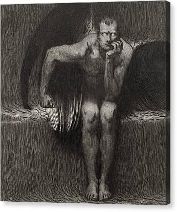 Lucifer Canvas Print by Franz von Stuck