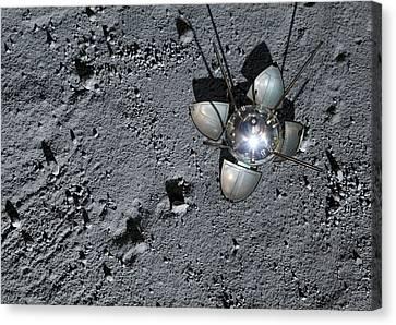 Luna 9 Landing Capsule Canvas Print by Detlev Van Ravenswaay