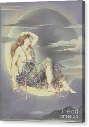 Luna Canvas Print by Evelyn De Morgan