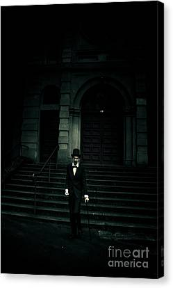 Lurking In The Shadows Of Darkness Canvas Print by Jorgo Photography - Wall Art Gallery