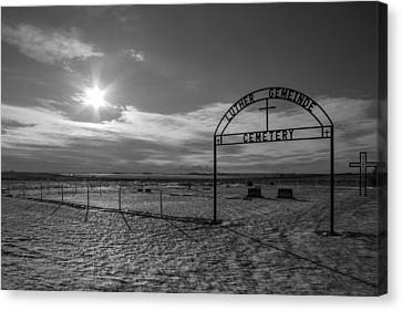Luther Gemeinde Cemetery Canvas Print