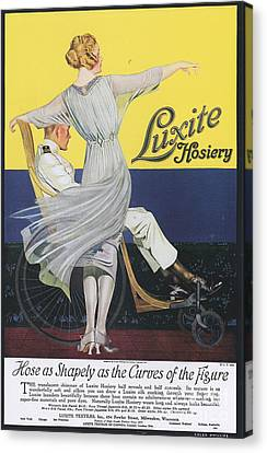 Luxite 1910s Usa Womens Hosiery Canvas Print by The Advertising Archives