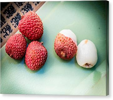 Lychee Fruit Canvas Print by Jim DeLillo