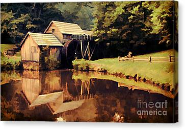 Mabrys Mill Canvas Print by Darren Fisher