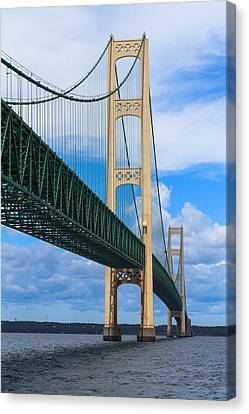 Mackinac Bridge Canvas Print by Cindy Lindow