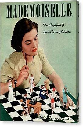 Mademoiselle Cover Featuring A Model Canvas Print by Paul D'Ome
