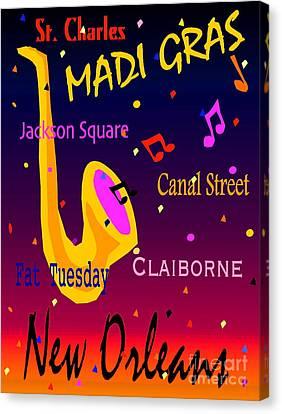 Madi Gras Canvas Print by Gayle Price Thomas
