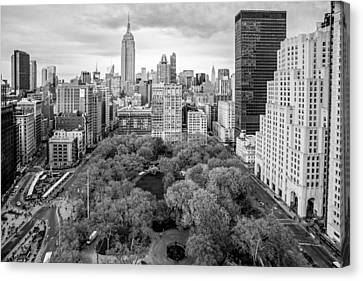 Empire State Building Canvas Print - Madison Square Park Birds Eye View by Susan Candelario