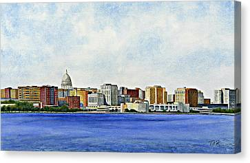 Canvas Print featuring the painting Madison by Thomas Kuchenbecker