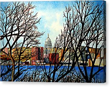 Madison Treed Canvas Print by Thomas Kuchenbecker