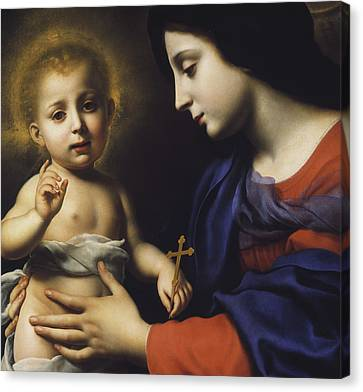 Madonna And Child Canvas Print by Carlo Dolci
