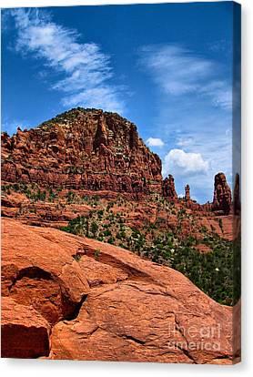 Madonna And Child Two Nuns Rock Formations Sedona Arizona Canvas Print by Amy Cicconi