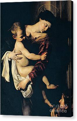 Madonna And Child Canvas Print - Madonna Di Loreto by Caravaggio