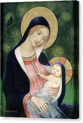 Madonna Of The Fir Tree Canvas Print by MotionAge Designs