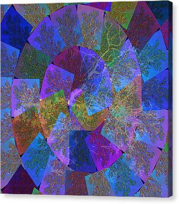 Magic Marbles Marvellous Colorful Pattern Spiral Sparkle Wonderland Kidsroom School Nursary Daycare  Canvas Print