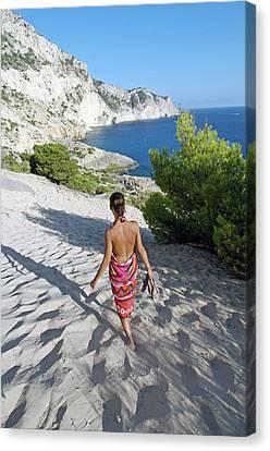 Magical Atlantis In Ibiza Canvas Print by Nano Calvo