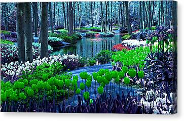 Magical Flower Garden Canvas Print by Marvin Blaine