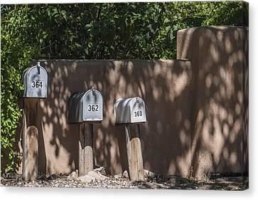 Mailboxes Santa Fe Nm Canvas Print by David Litschel