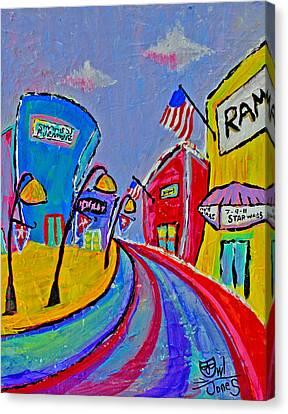 Main Street Usa Canvas Print by Owl Jones