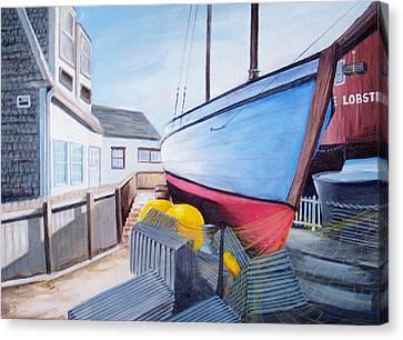 Maine Boatyard Canvas Print