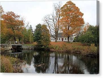 Maine Farmhouse Canvas Print - Maine Farmhouse by Becca Brann
