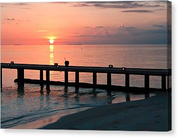Canvas Print featuring the photograph Maldives Morning  by Shirley Mitchell