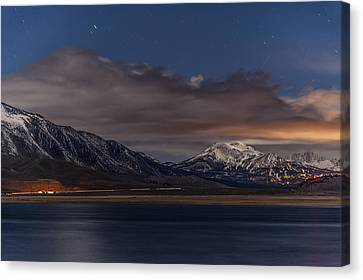 Mammoth At Night Canvas Print