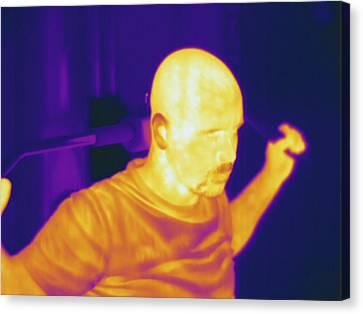 Man Exercising, Thermogram Canvas Print