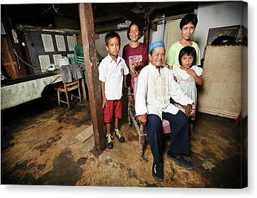 Man With Leprosy Canvas Print by Matthew Oldfield