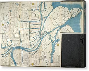Map Of Osaka Canvas Print by British Library