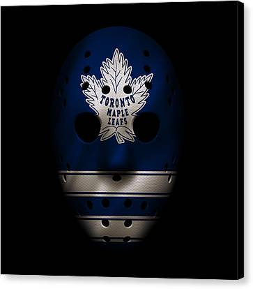 Toronto Maple Leafs Canvas Print - Maple Leafs Jersey Mask by Joe Hamilton