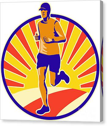 Marathon Runner Athlete Running Canvas Print