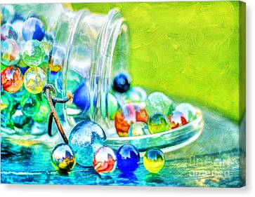 Marble Eyes Canvas Print - Marbles by Darren Fisher