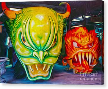 Mardi Gras Devils Canvas Print by Gregory Dyer