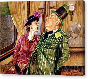 Margaret And W.c. Fields Canvas Print by Linda Simon