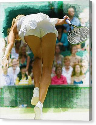 Maria Sharapova -  Wimbledon Championships Canvas Print by Don Kuing