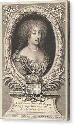 Marie Jeanne Baptiste De Savoie-nemours Canvas Print by Robert Nanteuil