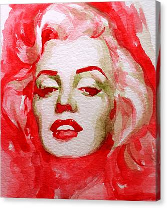 Canvas Print featuring the painting Marilyn by Laur Iduc