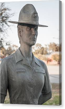 Marine Drill Instructor Canvas Print by Roger Clifford
