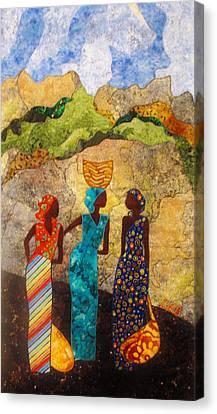 Market Day Ladies Canvas Print by Lynda K Boardman