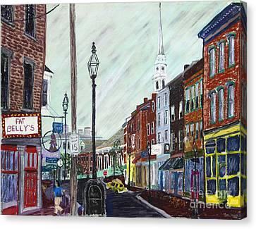 Market Street Canvas Print