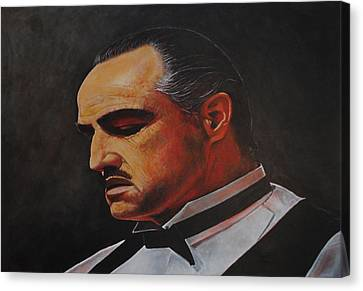 Marlon Brando The Godfather Canvas Print by David Dunne